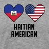Haitian American Heart Flags - Men's Premium T-Shirt