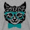 Hipster Kitten Baby Cat with Glasses  - Men's Premium T-Shirt