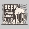 Beer with your Lunch - Men's Premium T-Shirt