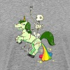Skull riding unicorn - Men's Premium T-Shirt