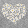 Heart of white flowers - Men's Premium T-Shirt
