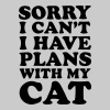SORRY I CAN'T, I HAVE PLANS WITH MY CAT! - Men's Premium T-Shirt