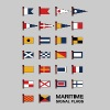 Maritime Signal Flags - Men's Premium T-Shirt