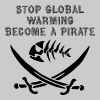 stop global warming and become a pirate - Men's Premium T-Shirt