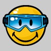 SmileyWorld Smiley with Ski Goggles - Men's Premium T-Shirt