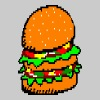 Ascii Pixel Burger - Men's Premium T-Shirt