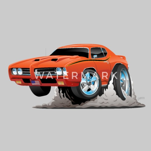 Classic American Muscle Car Cartoon By Hobrath Spreadshirt