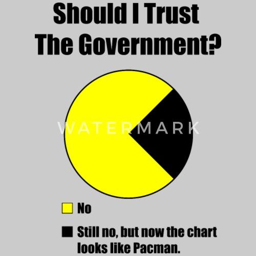 Government Trust Pie Chart Mens Premium T Shirt Spreadshirt