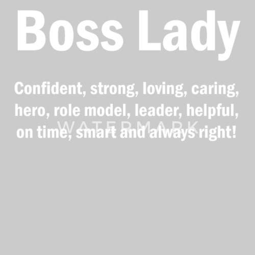 Boss Lady English Quotes Mom Wife Mothers Mens Premium T Shirt