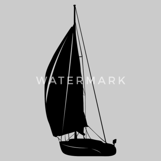 Sailboat Abstract Silhouette Art