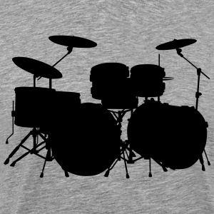 drum silhouette - Men's Premium T-Shirt