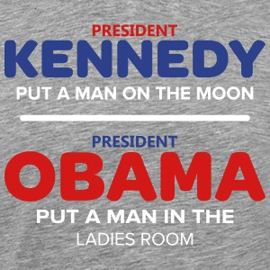 Kennedy Moon Obama Ladies Room - T-shirt premium pour hommes