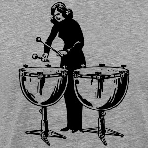 drumming girl - Men's Premium T-Shirt