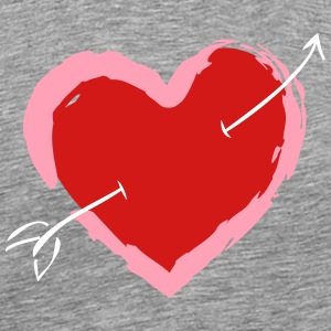 Heart With Arrow - Men's Premium T-Shirt