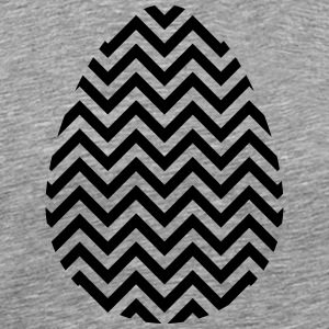 Black Easter Egg Chevron - Men's Premium T-Shirt