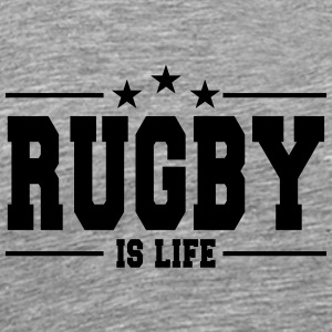 Rugby is life - Men's Premium T-Shirt
