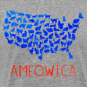 Ameowica I pledge allegiance to the United Cats - Men's Premium T-Shirt