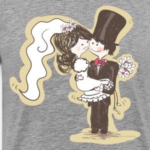 Hand painted bride and groom wedding