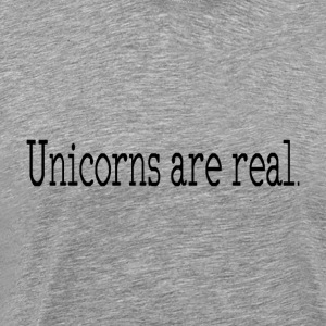 Unicorns are real. minimalist design products - Men's Premium T-Shirt