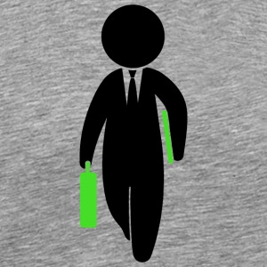 A Consultant Is Running With His Briefcase - Men's Premium T-Shirt