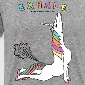 Cobra Pose Unicorn Exhale outline - Men's Premium T-Shirt