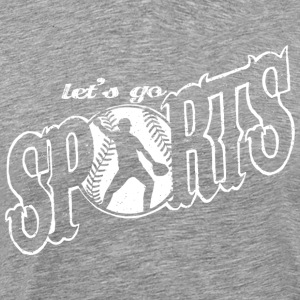 Let 039 s go Sports Softball - Men's Premium T-Shirt