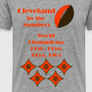 By The Numbers-Cleveland Football - Men's Premium T-Shirt
