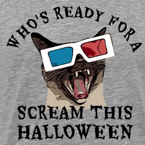 Who's Ready for a Scream this Halloween T-Shirt - Men's Premium T-Shirt