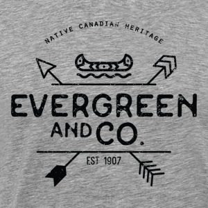 Evergreen and Co. Classic Canoe - Men's Premium T-Shirt