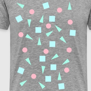 Hipster 90's shapes - Men's Premium T-Shirt