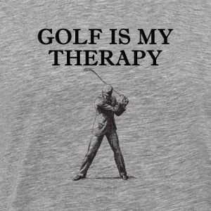 Golf Is My Therapy Shirt - Men's Premium T-Shirt