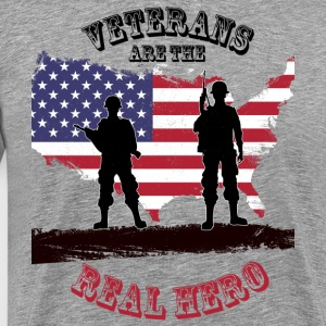 Men American Flag US Army Vietnam Veterans day Tee - Men's Premium T-Shirt