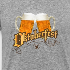 Oktoberfest Beer der chears Drink mug german lol - Men's Premium T-Shirt
