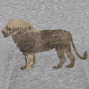 Silhouette Jungle Series Lion - Men's Premium T-Shirt