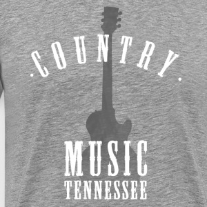 country music tennessee Jazz Blues Rock Guitar lol - Men's Premium T-Shirt