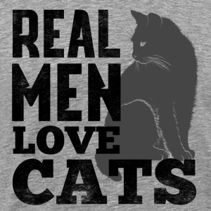 REAL MEN LOVE CATS - Men's Premium T-Shirt