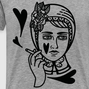 Heart/smoking/tattoo - Men's Premium T-Shirt
