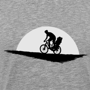 bike cyclist father and child bike seat cycling - Men's Premium T-Shirt