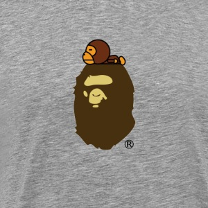 Baby milo on ape - Men's Premium T-Shirt