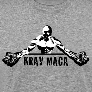 Krav Maga Fists (black and white) - Men's Premium T-Shirt