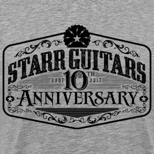 Starr Guitars 10th Anniversary Black Logo - Men's Premium T-Shirt