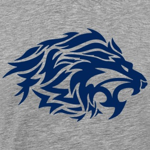 lion blue - Men's Premium T-Shirt