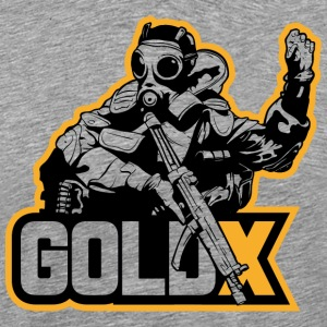 goldX Outlined - Men's Premium T-Shirt