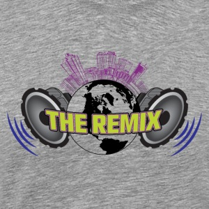 THE REMIX 2D LOGO WITH CITYSCAPE - Men's Premium T-Shirt