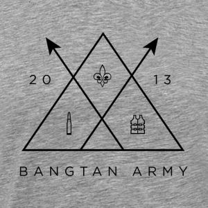 BTS Bangtan A.R.M.Y Trifecta (Black) - Men's Premium T-Shirt