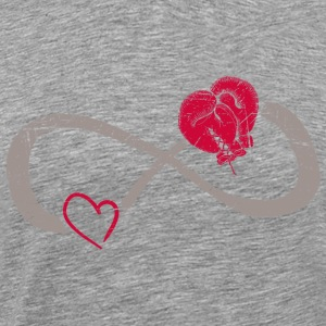 Infinite Love ∞ I Love Boxing ∞ Red Boxing Gloves - Men's Premium T-Shirt
