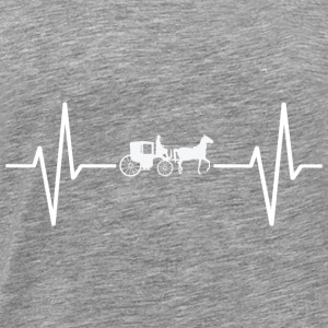 My heart beats for horses! gift - Men's Premium T-Shirt