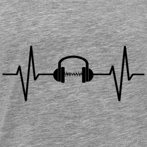My heart beats for music! gift - Men's Premium T-Shirt