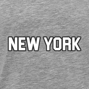 New York Yankee - White - Men's Premium T-Shirt