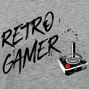 retro gamer - gaming vintage retro joystick game - Men's Premium T-Shirt